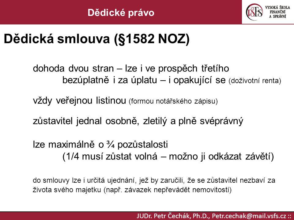 Dědická smlouva (§1582 NOZ)