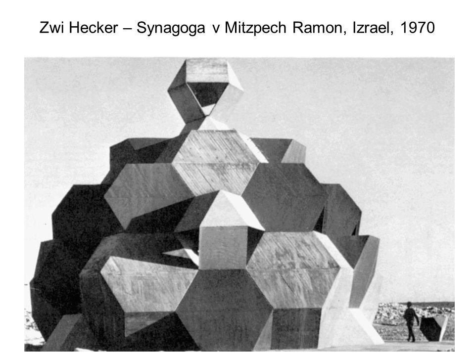 Zwi Hecker – Synagoga v Mitzpech Ramon, Izrael, 1970