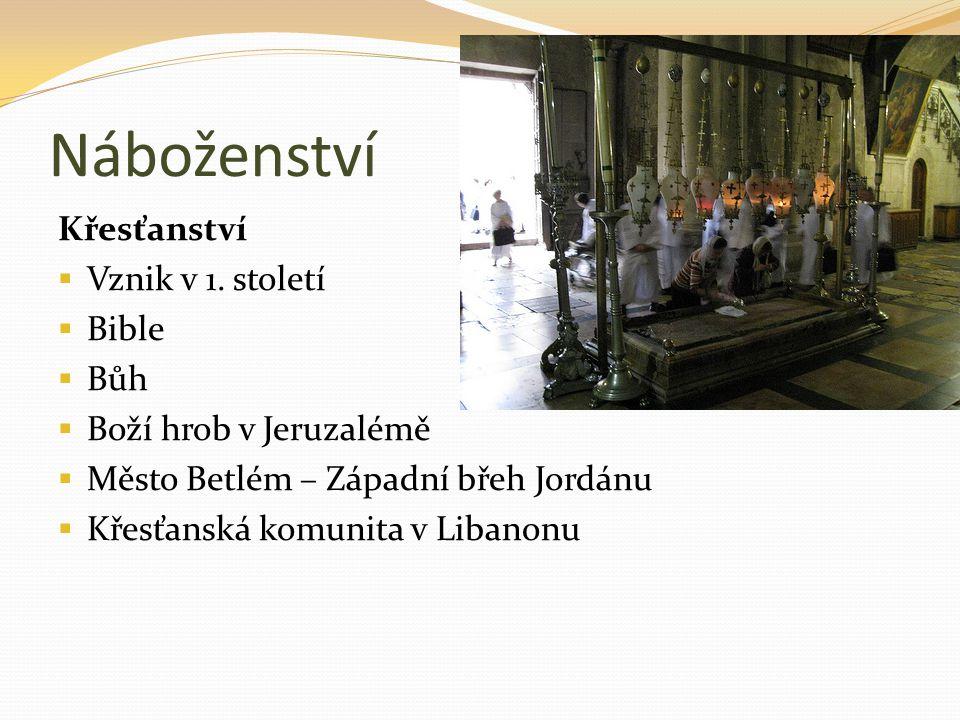 Náboženství Křesťanství Vznik v 1. století Bible Bůh