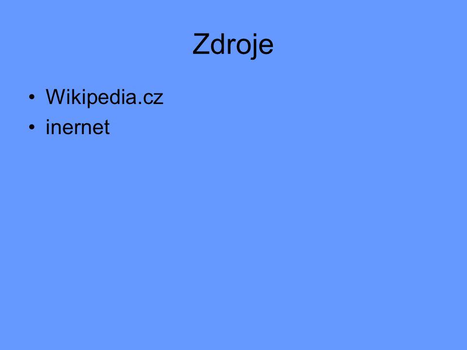 Zdroje Wikipedia.cz inernet