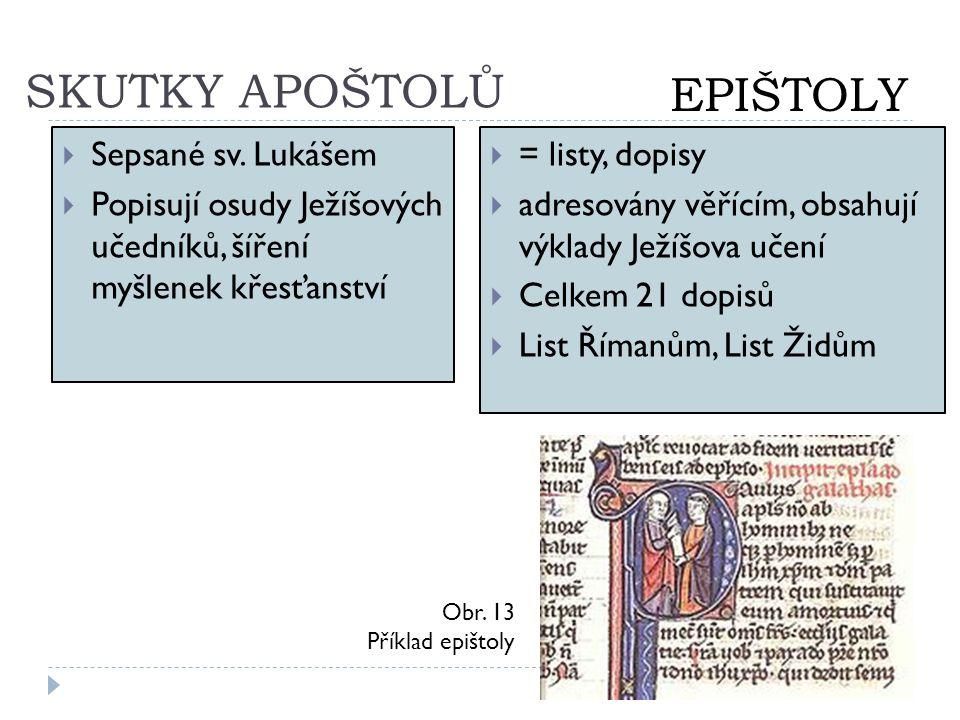 SKUTKY APOŠTOLŮ EPIŠTOLY Sepsané sv. Lukášem