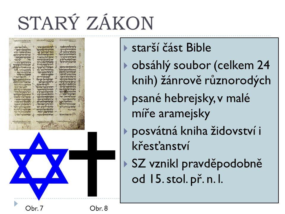 STARÝ ZÁKON starší část Bible
