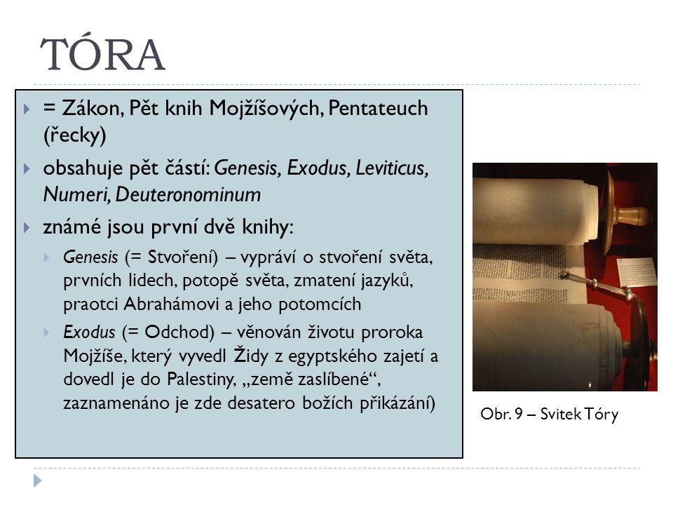 TÓRA = Zákon, Pět knih Mojžíšových, Pentateuch (řecky)
