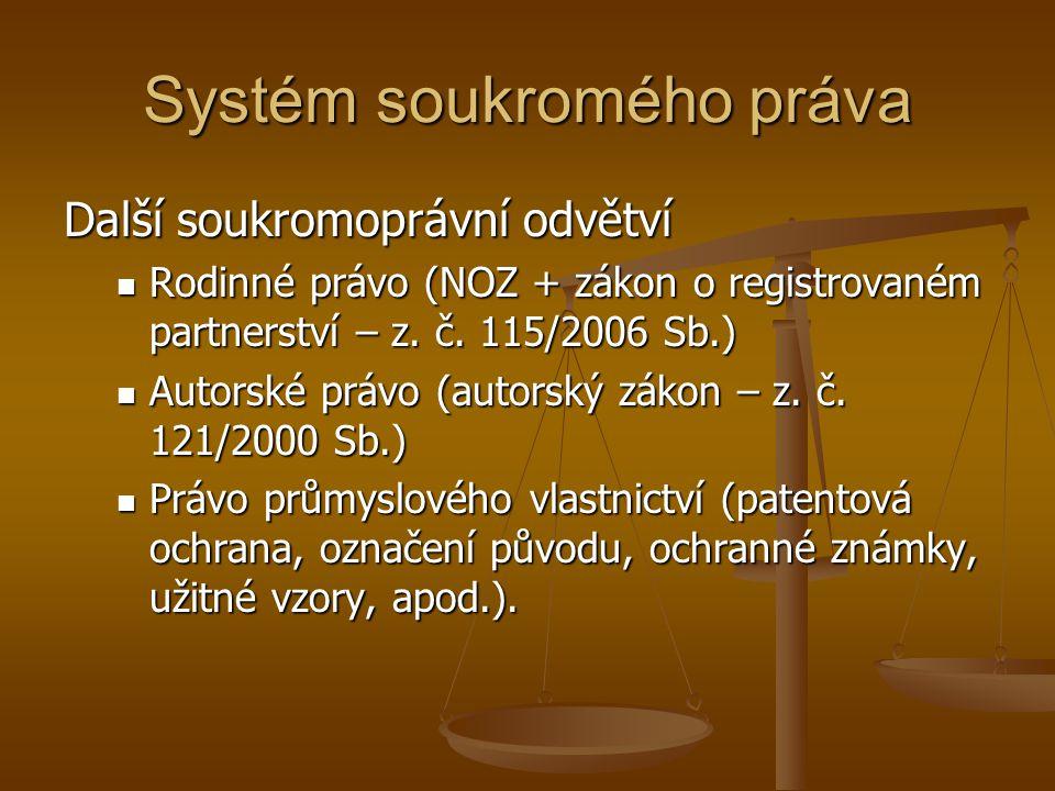 Systém soukromého práva