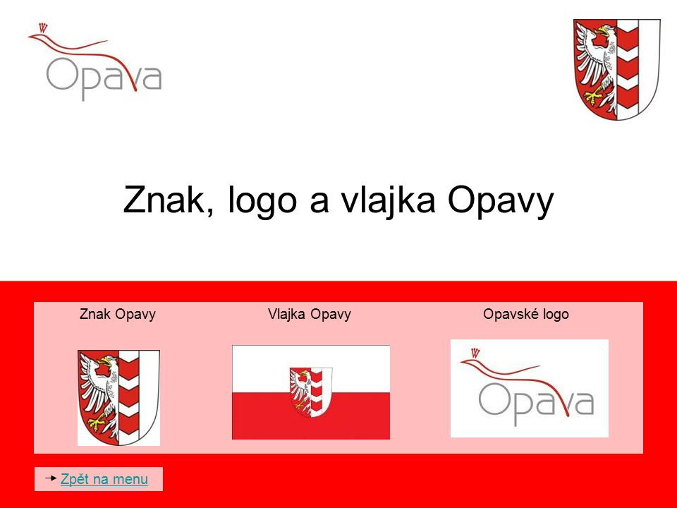 Znak, logo a vlajka Opavy
