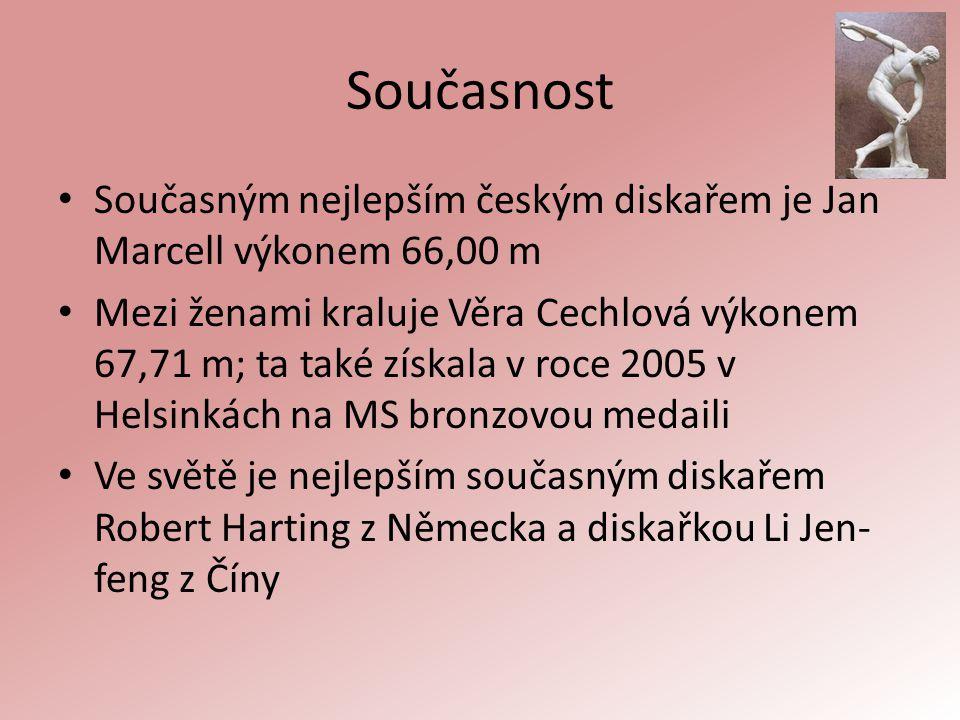 Současnost Současným nejlepším českým diskařem je Jan Marcell výkonem 66,00 m.