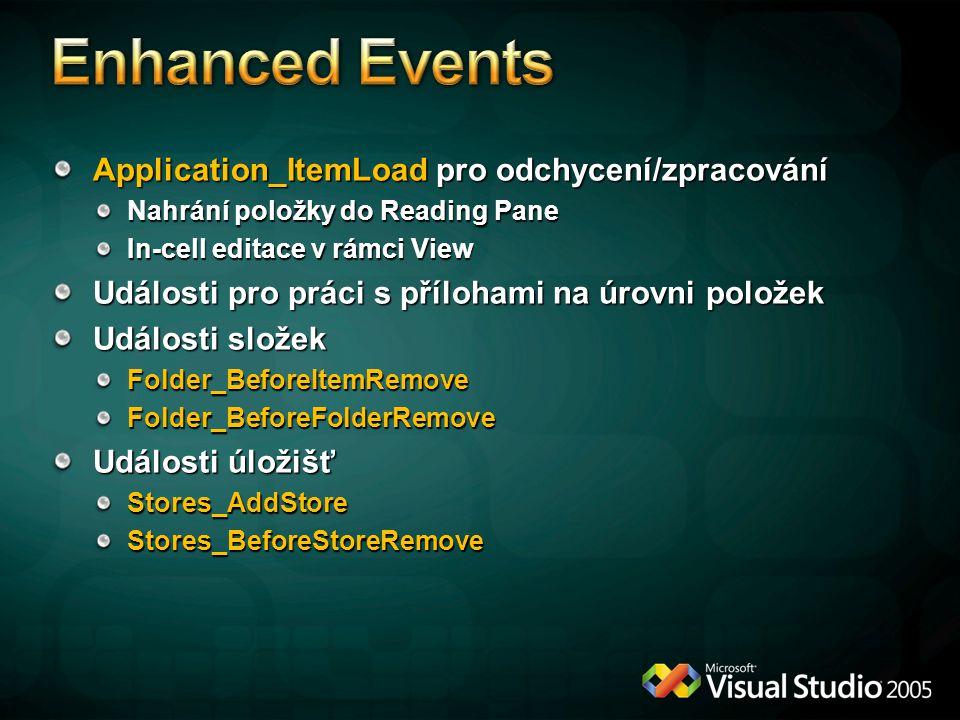 Enhanced Events Application_ItemLoad pro odchycení/zpracování