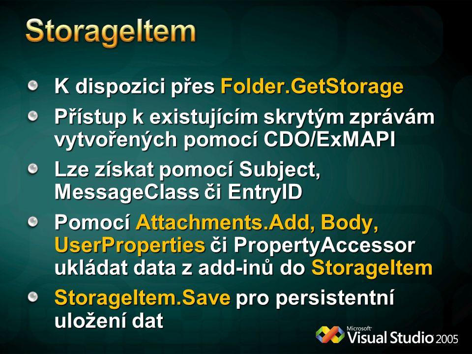 StorageItem K dispozici přes Folder.GetStorage
