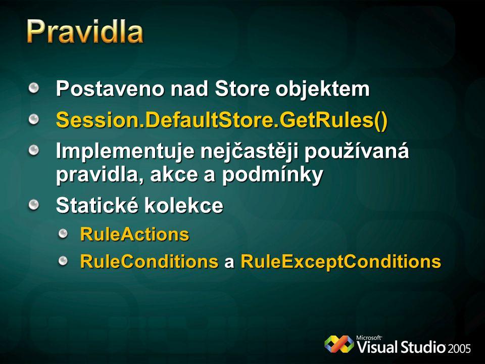 Pravidla Postaveno nad Store objektem Session.DefaultStore.GetRules()