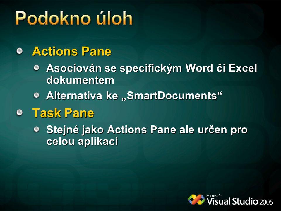 Podokno úloh Actions Pane Task Pane