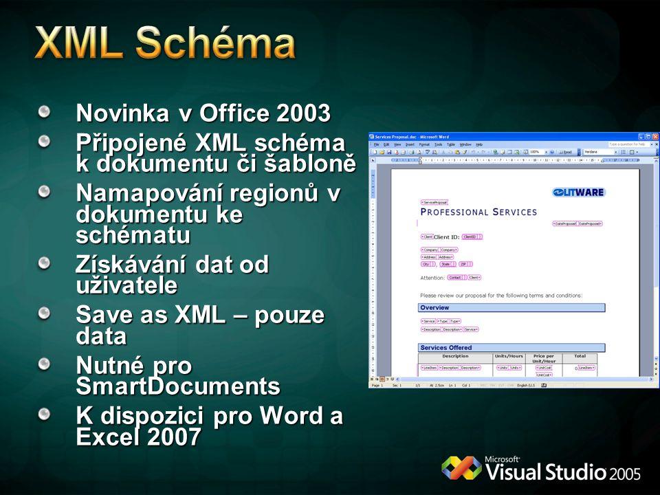 XML Schéma Novinka v Office 2003