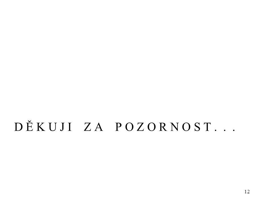 D Ě K U J I Z A P O Z O R N O S T . . .