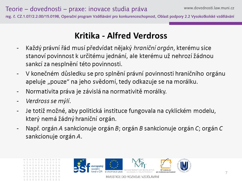 Kritika - Alfred Verdross