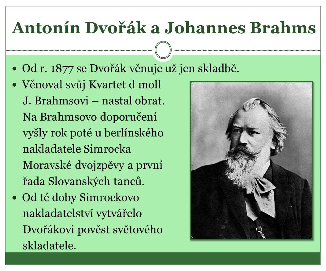 Antonín Dvořák a Johannes Brahms