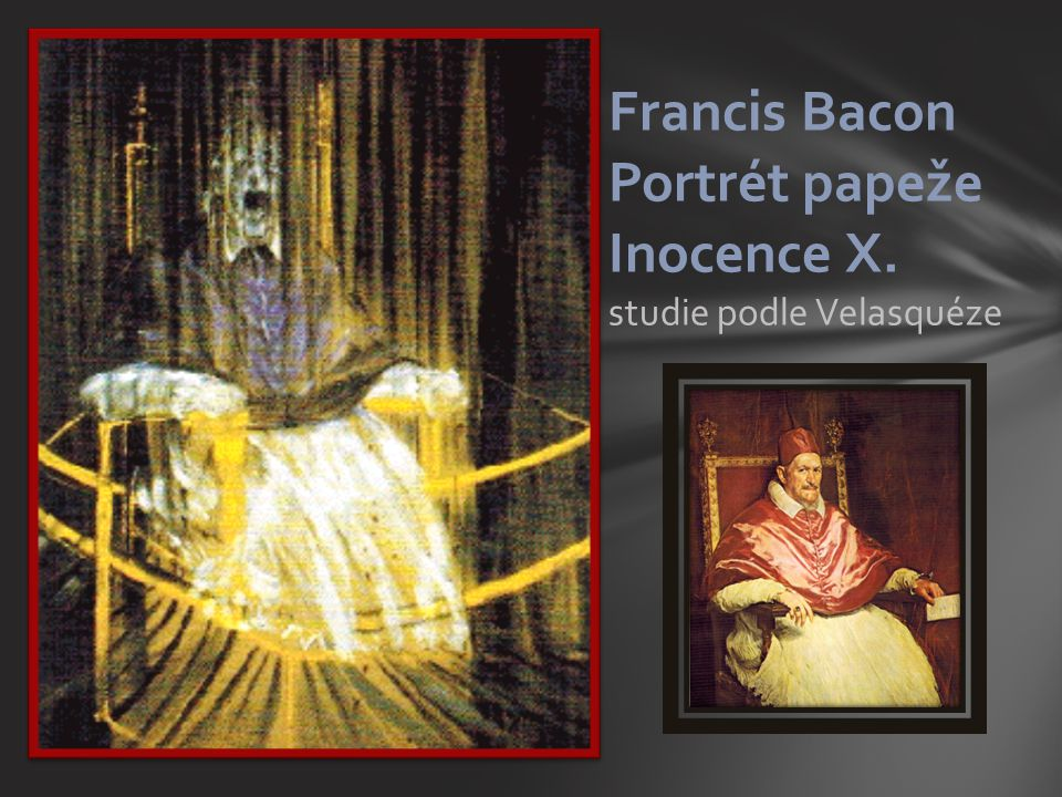 Francis Bacon Portrét papeže Inocence X. studie podle Velasquéze