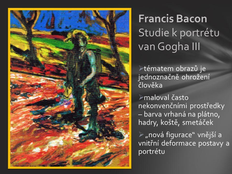 Francis Bacon Studie k portrétu van Gogha III