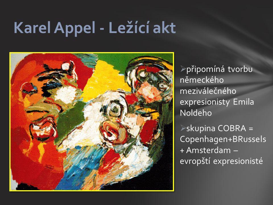 Karel Appel - Ležící akt