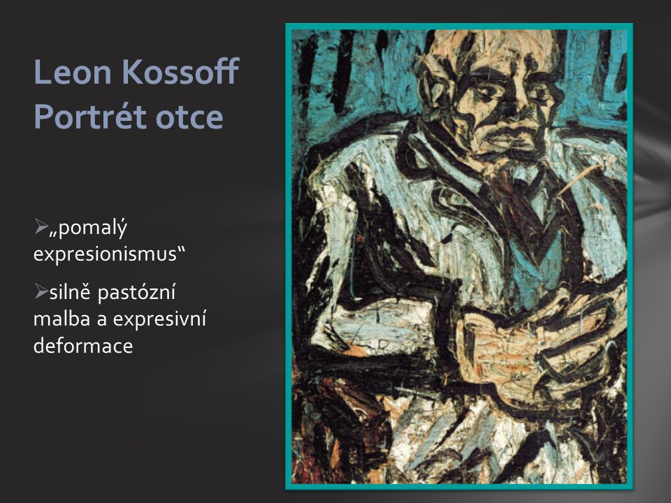 Leon Kossoff Portrét otce