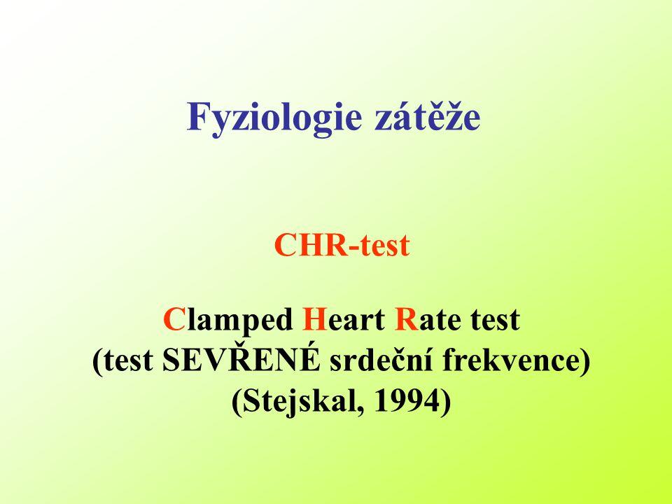 Fyziologie zátěže CHR-test