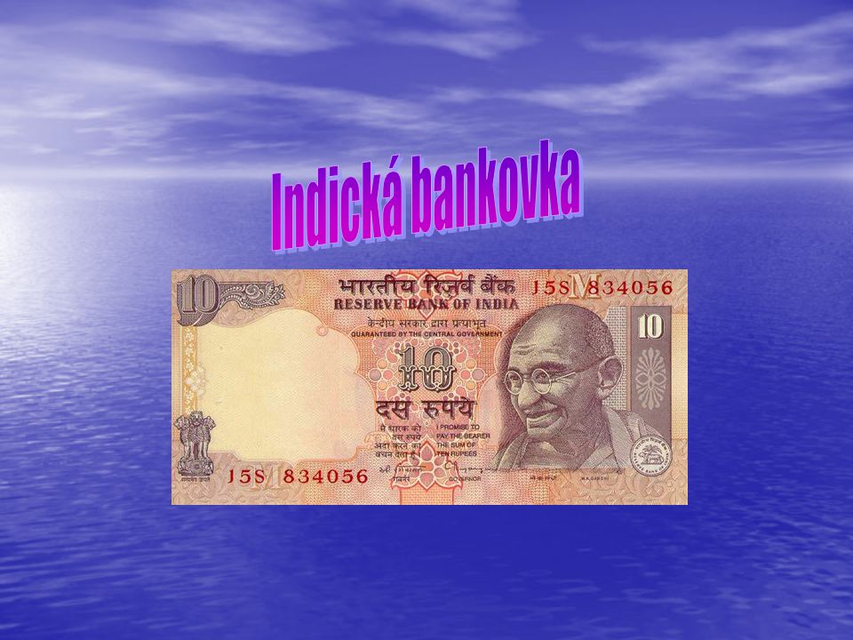 Indická bankovka