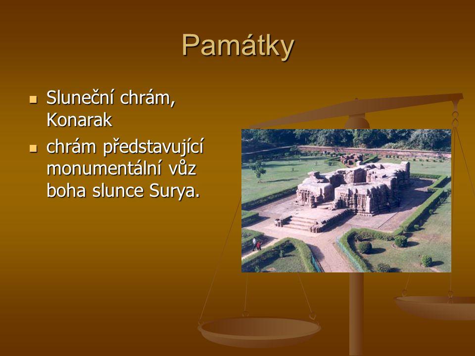 Památky Sluneční chrám, Konarak