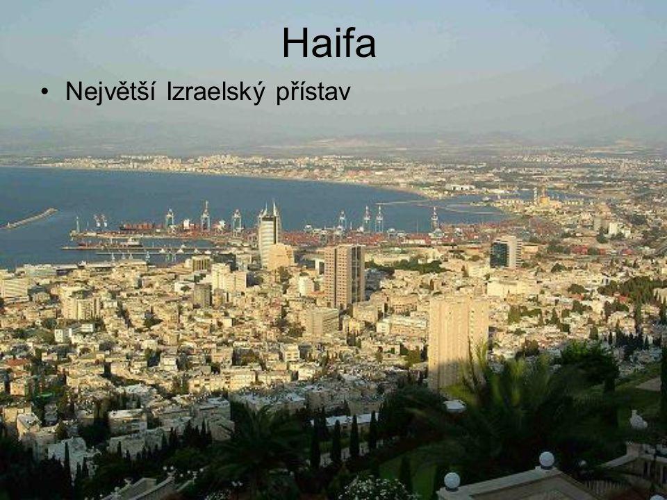 Haifa Největší Izraelský přístav