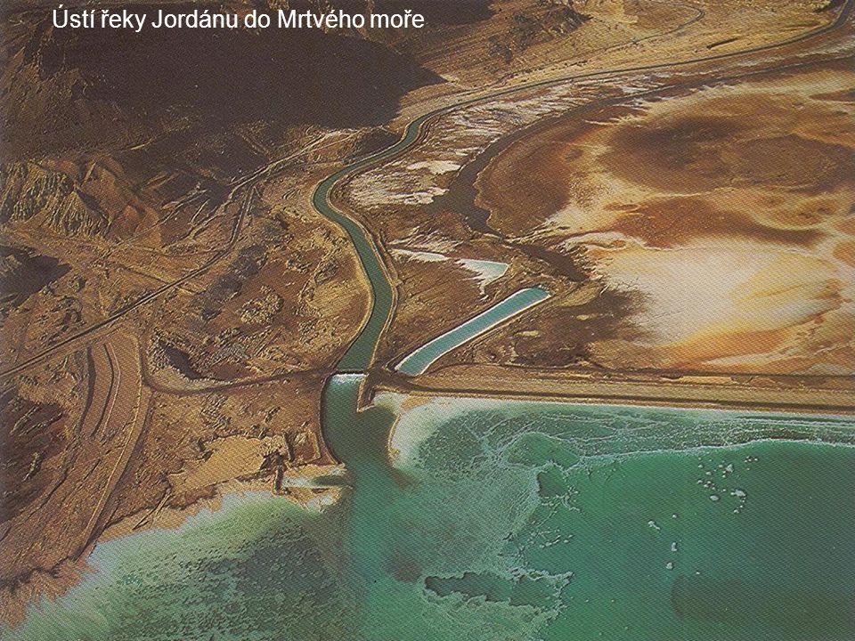 Ústí řeky Jordánu do Mrtvého moře