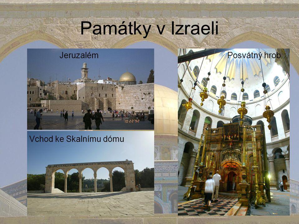 Památky v Izraeli Jeruzalém Posvátný hrob Vchod ke Skalnímu dómu