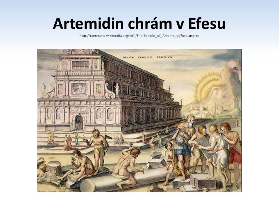 Artemidin chrám v Efesu http://commons. wikimedia