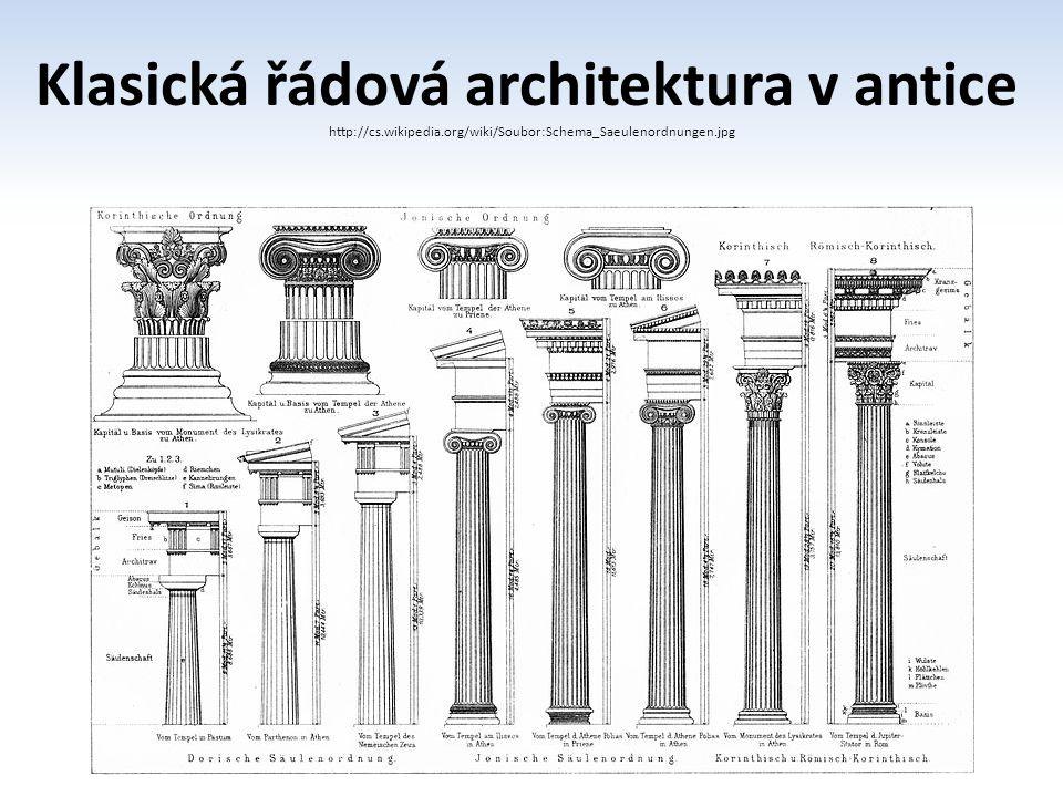 Klasická řádová architektura v antice