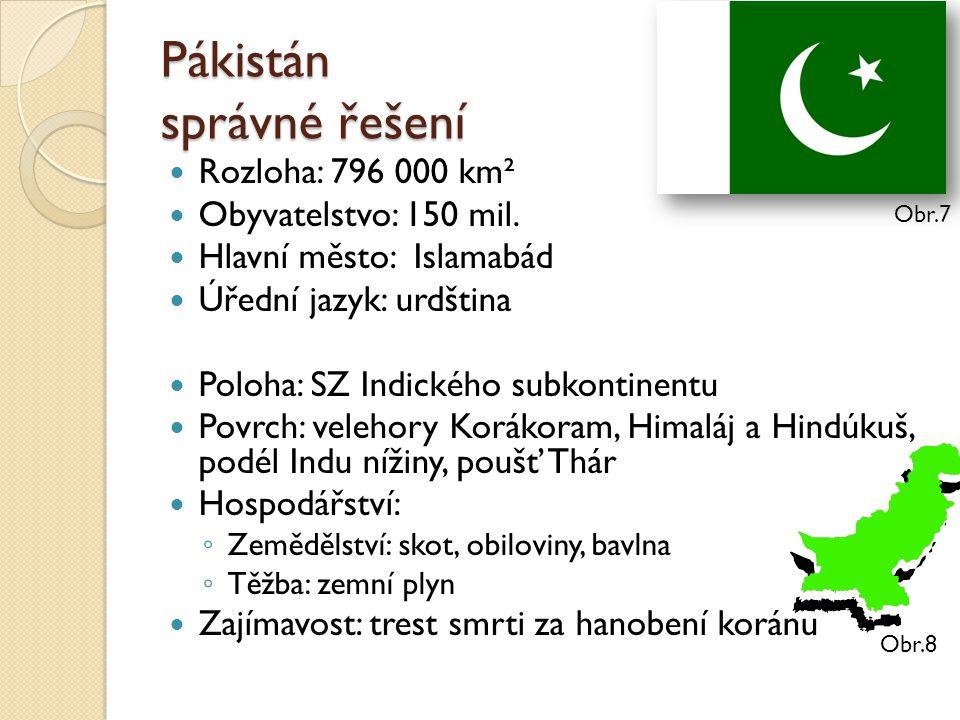 Pákistán správné řešení