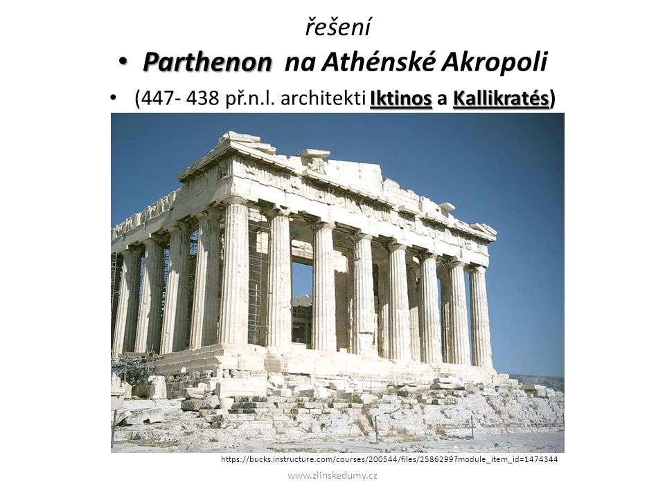 Parthenon na Athénské Akropoli