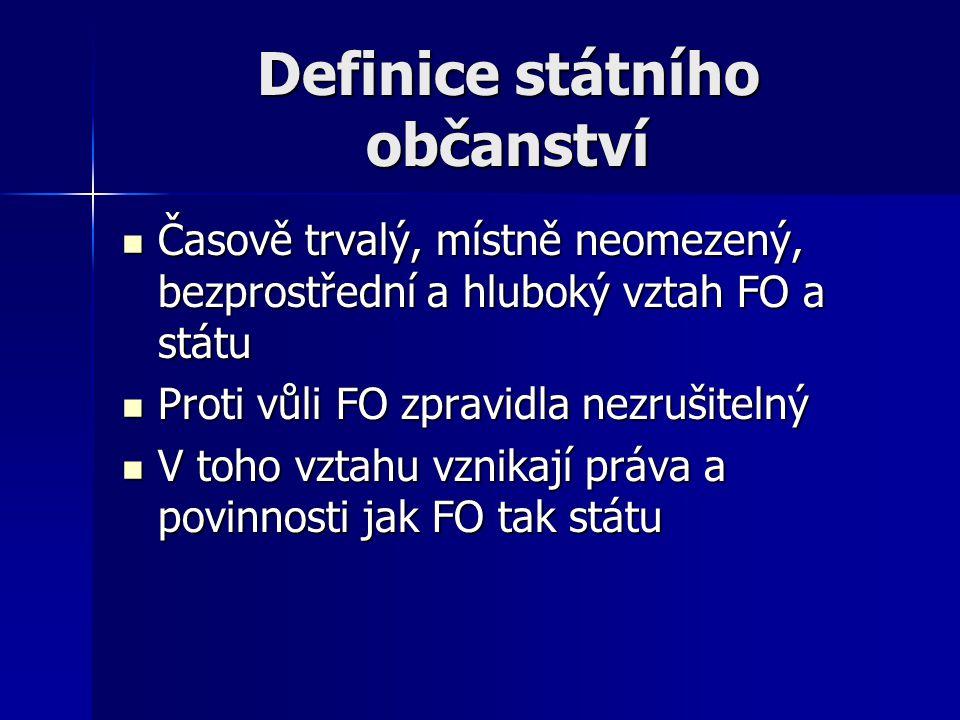 Definice státního občanství