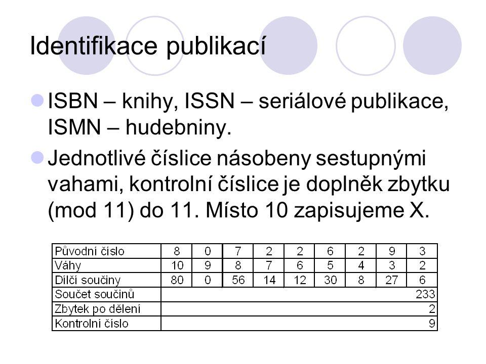 Identifikace publikací
