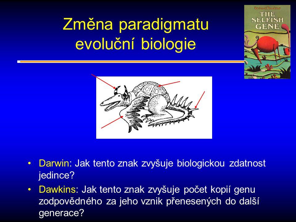 Změna paradigmatu evoluční biologie