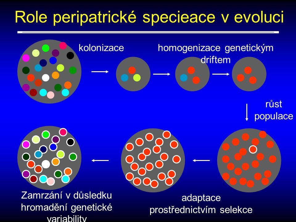 Role peripatrické specieace v evoluci