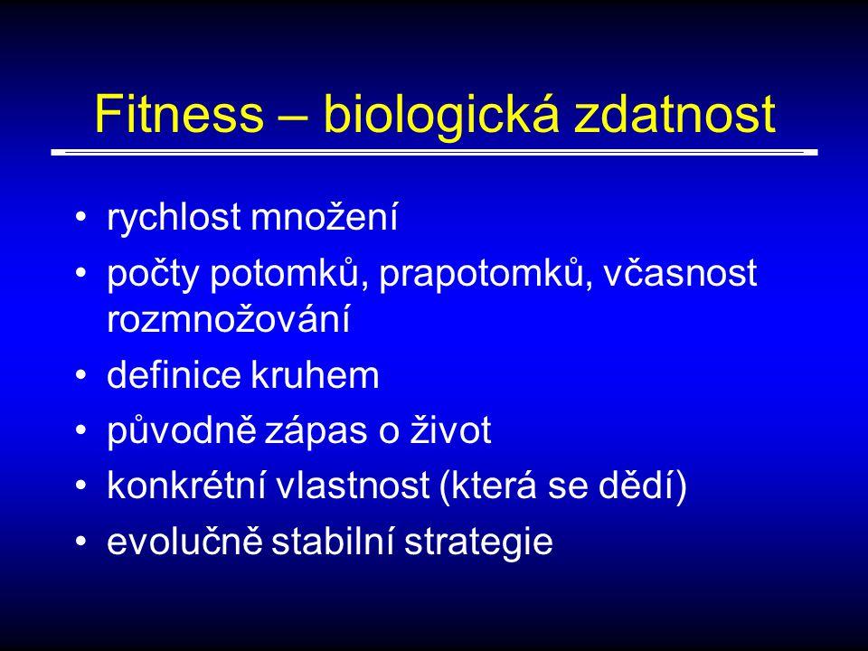 Fitness – biologická zdatnost