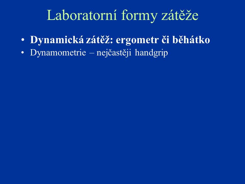 Laboratorní formy zátěže
