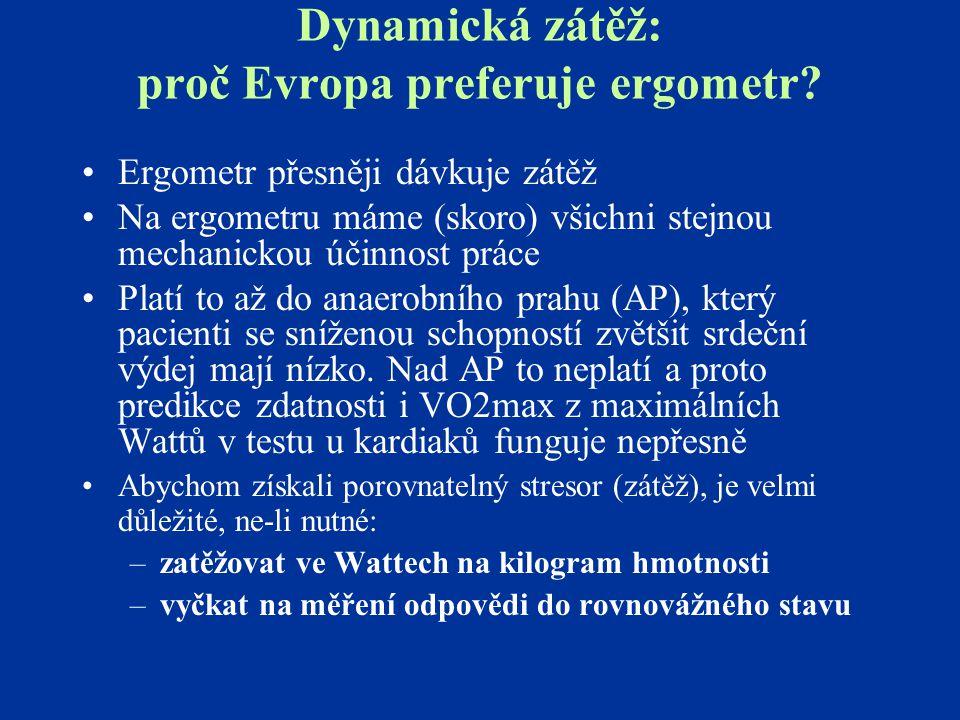 Dynamická zátěž: proč Evropa preferuje ergometr