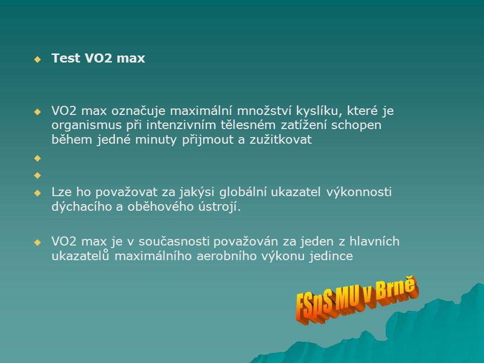 FSpS MU v Brně Test VO2 max