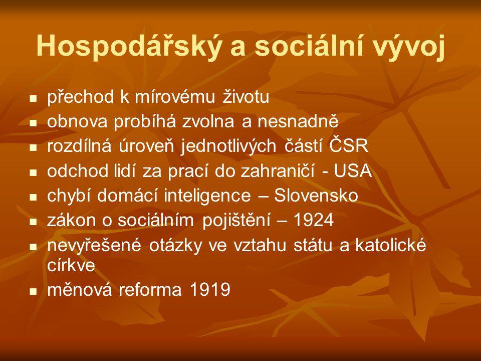 Hospodářský a sociální vývoj