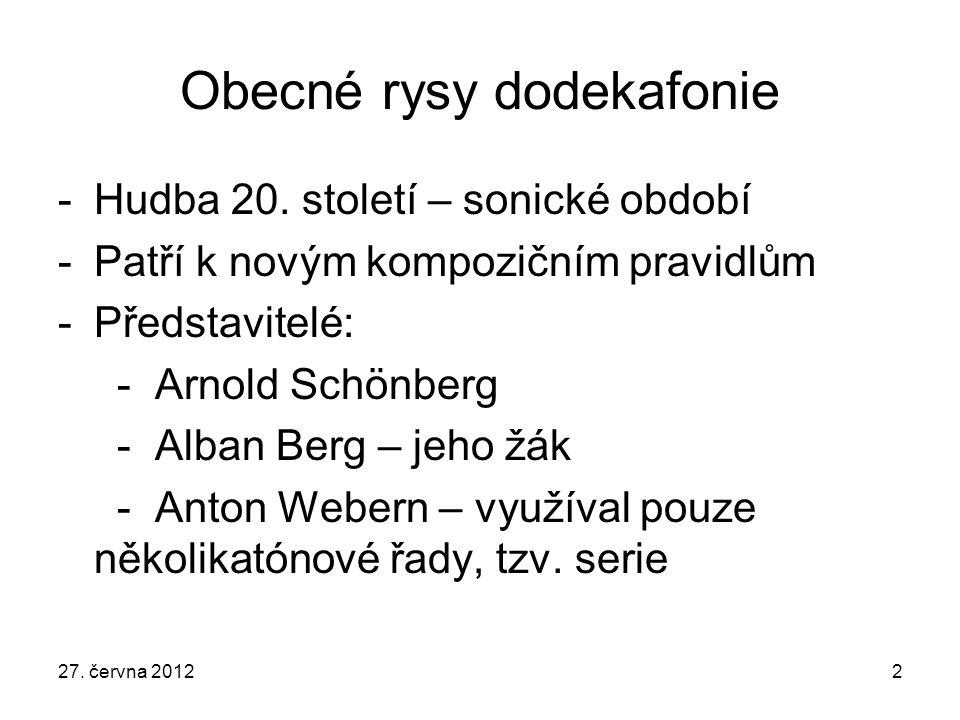 Obecné rysy dodekafonie