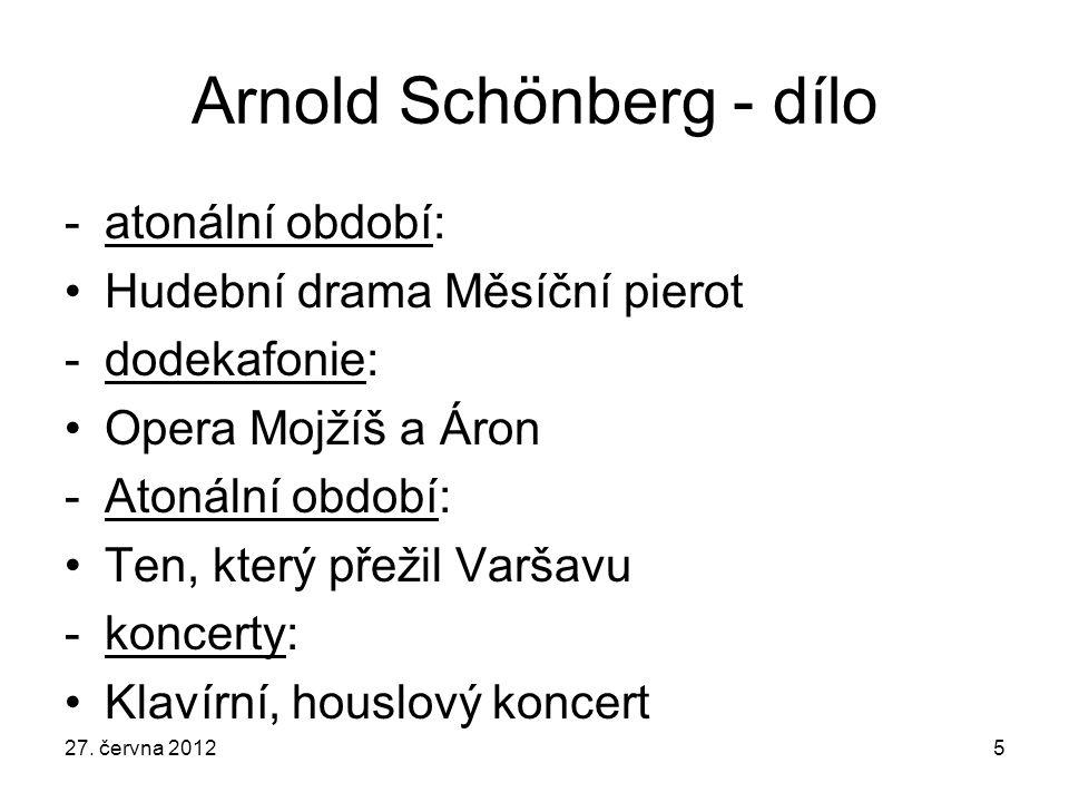 Arnold Schönberg - dílo
