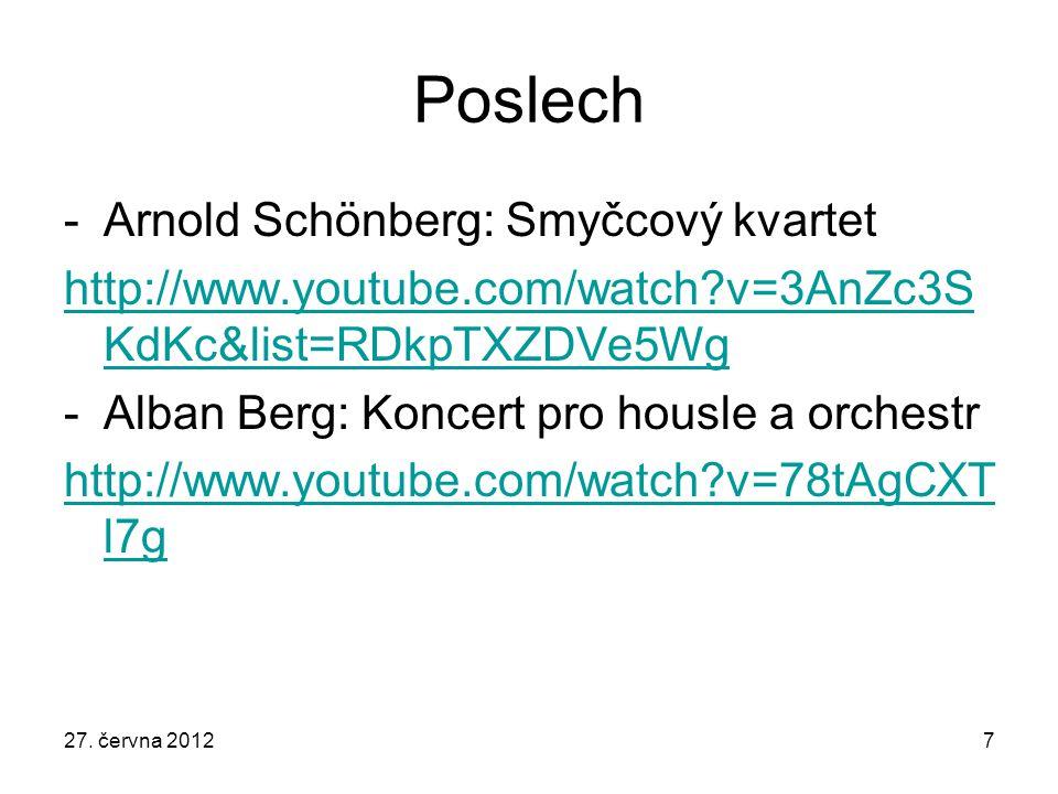 Poslech Arnold Schönberg: Smyčcový kvartet