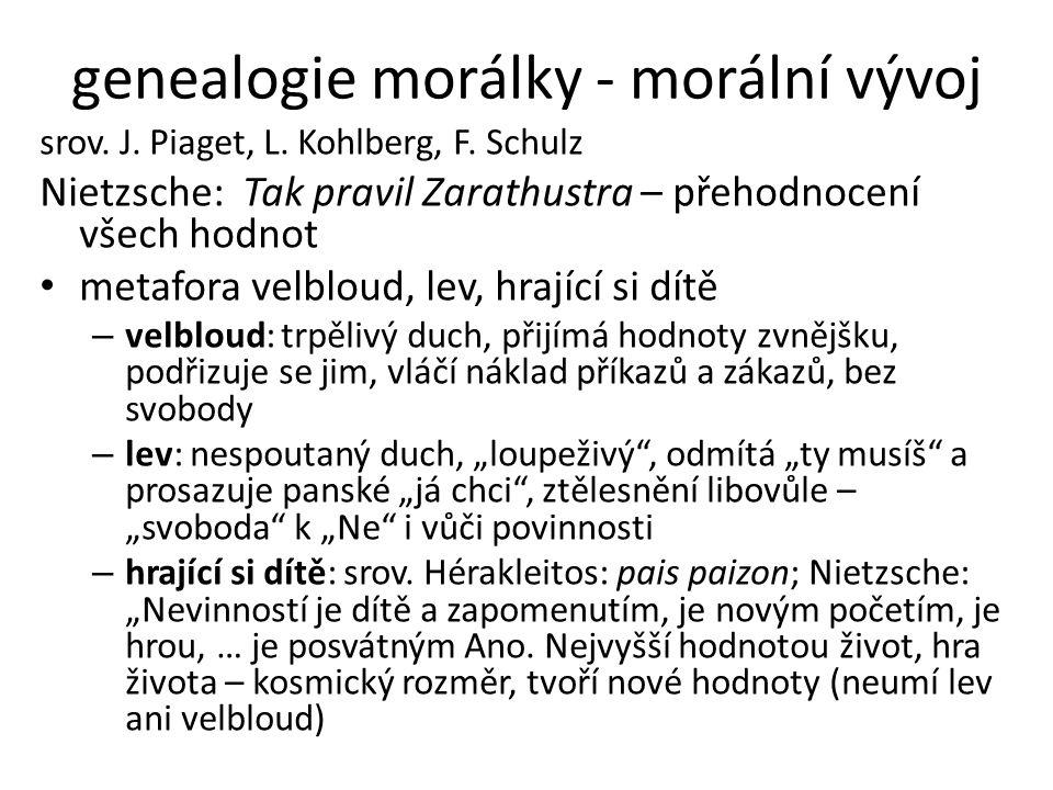 genealogie morálky - morální vývoj