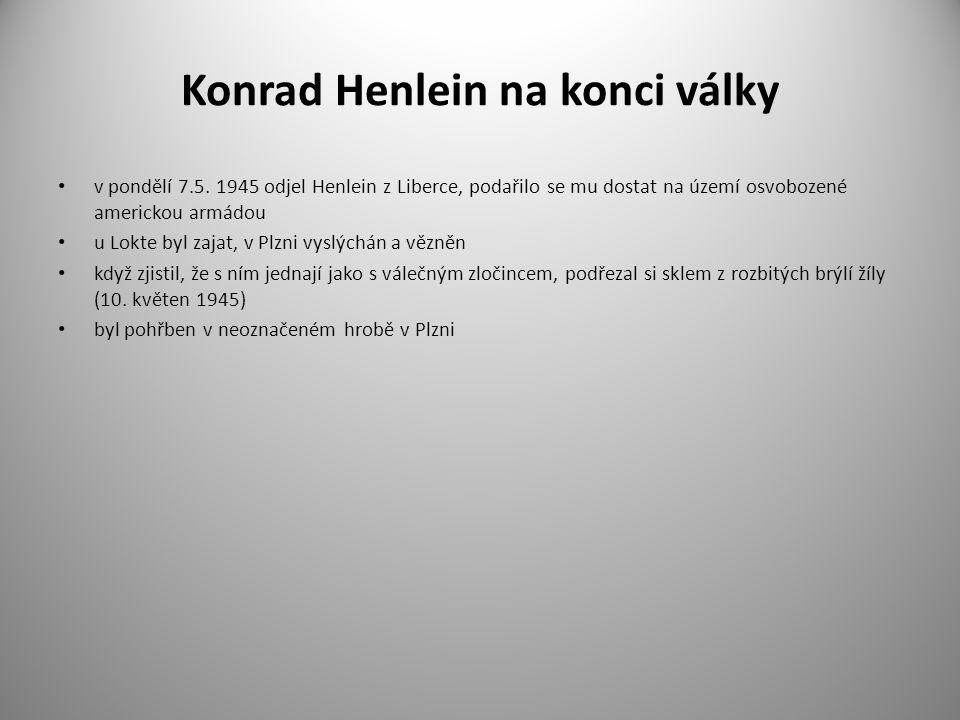 Konrad Henlein na konci války