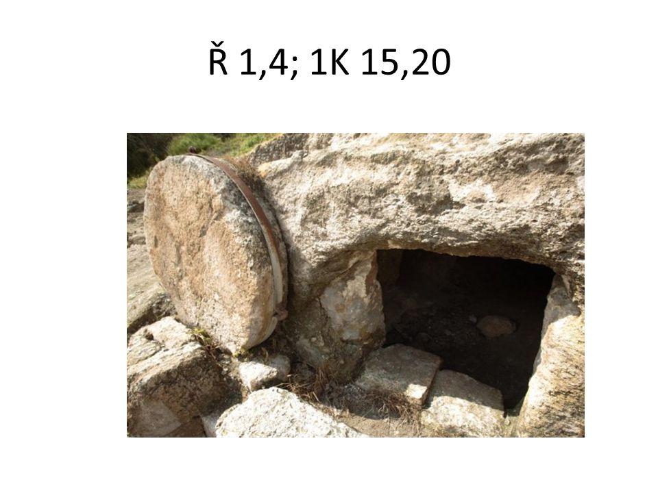 Ř 1,4; 1K 15,20