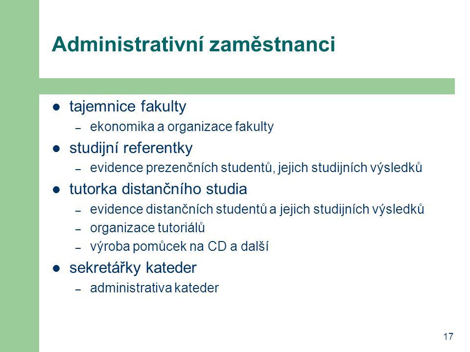 Administrativní zaměstnanci