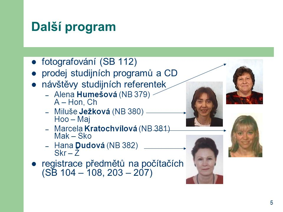 Další program fotografování (SB 112) prodej studijních programů a CD