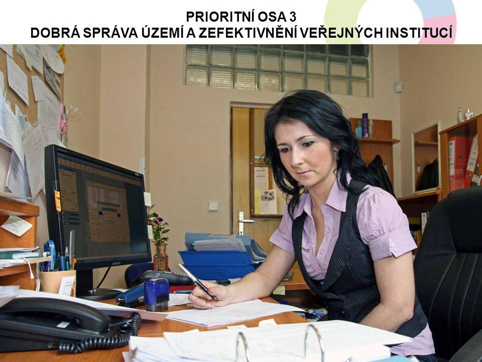 PRIORITNÍ OSA 3 Dobrá správa území a zefektivnění veřejných institucí
